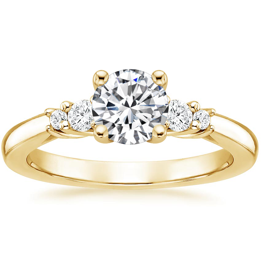Round 18K Yellow Gold Rialto Diamond Ring