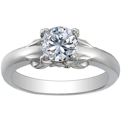 18K White Gold Bouquet Ring, top view