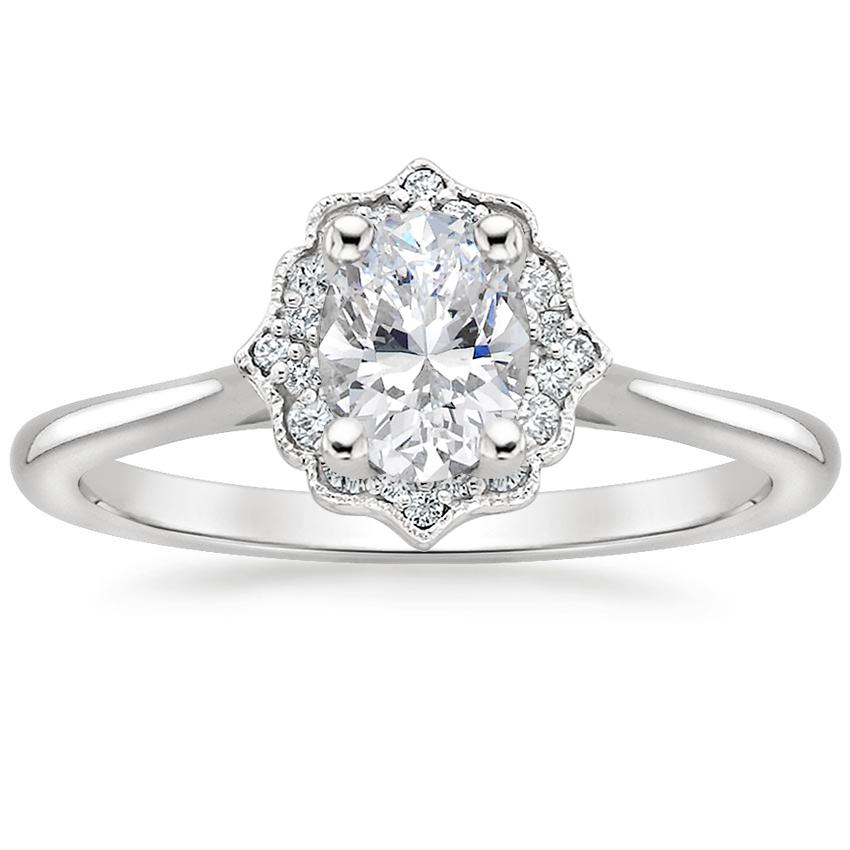 Oval Pavé Halo Ring