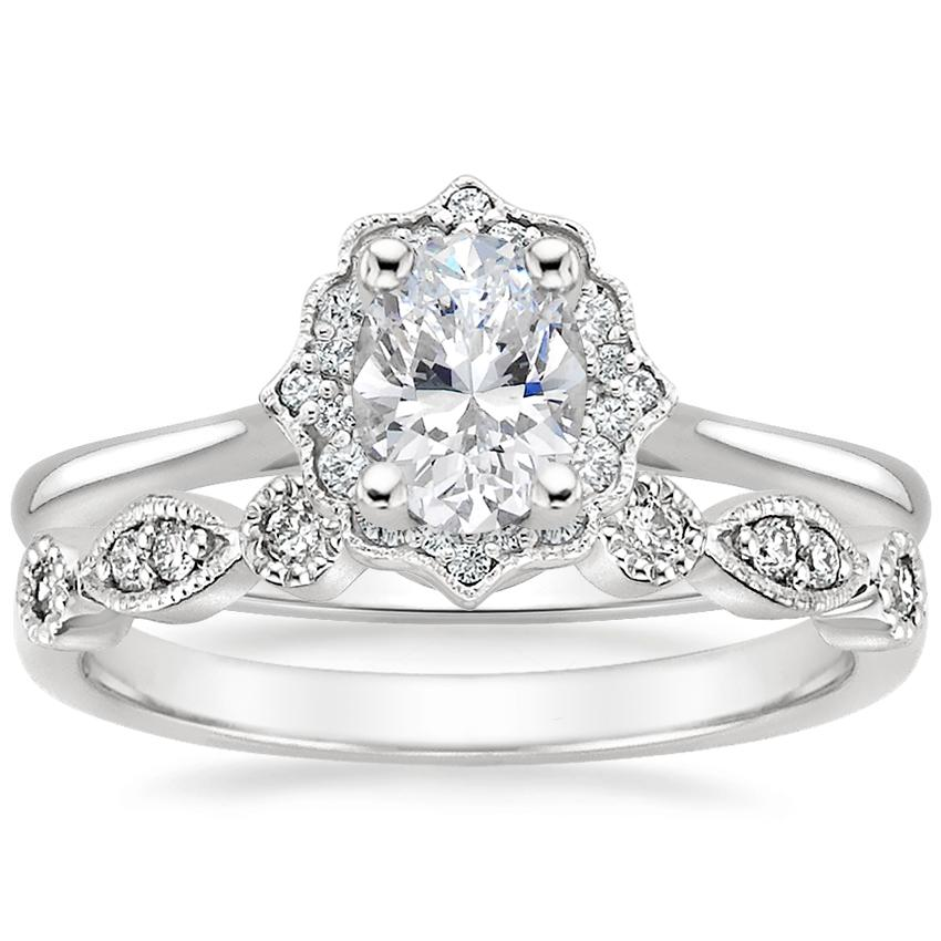 18K White Gold Coralie Diamond Ring with Tiara Diamond Ring (1/10 ct. tw.)