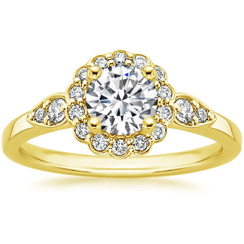 Round 18K Yellow Gold Camillia Diamond Ring (1/4 ct. tw.)