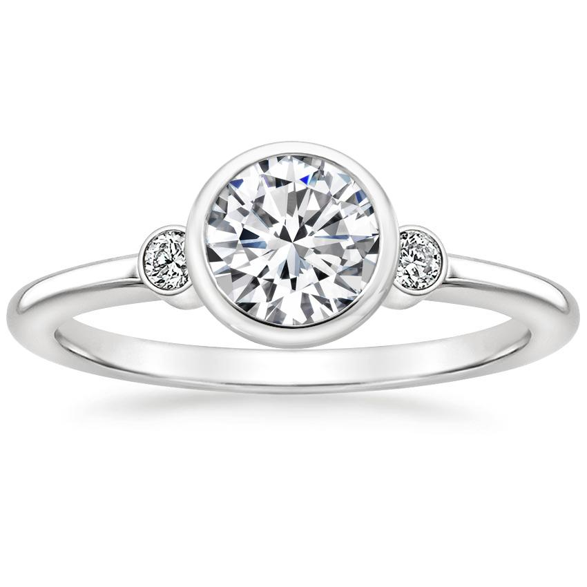 Round Platinum Mila Diamond Ring