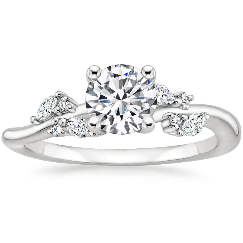 Round Marquise Cluster Diamond Ring