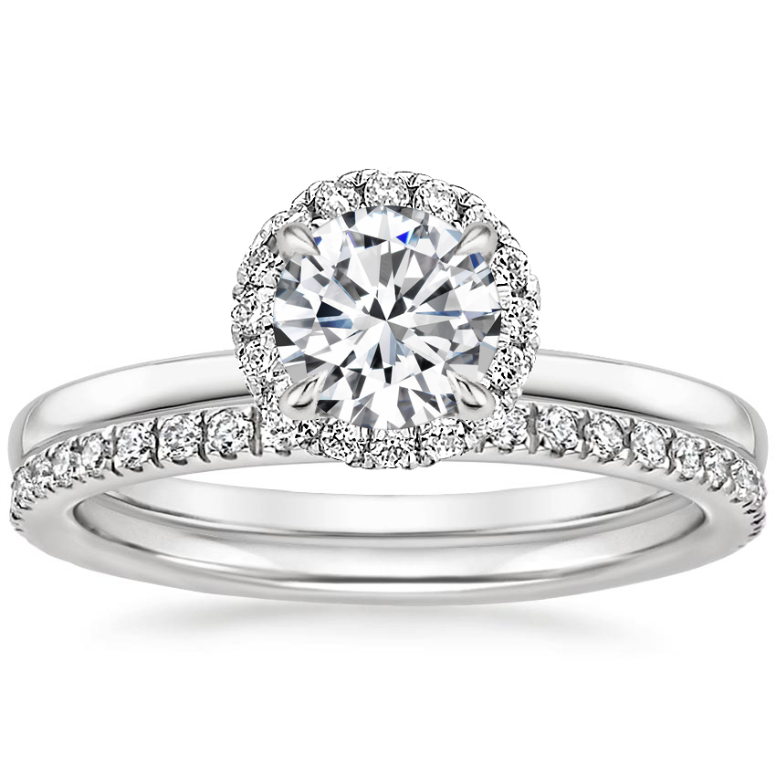 18K White Gold Vienna Diamond Bridal Set (1/2 ct. tw.)