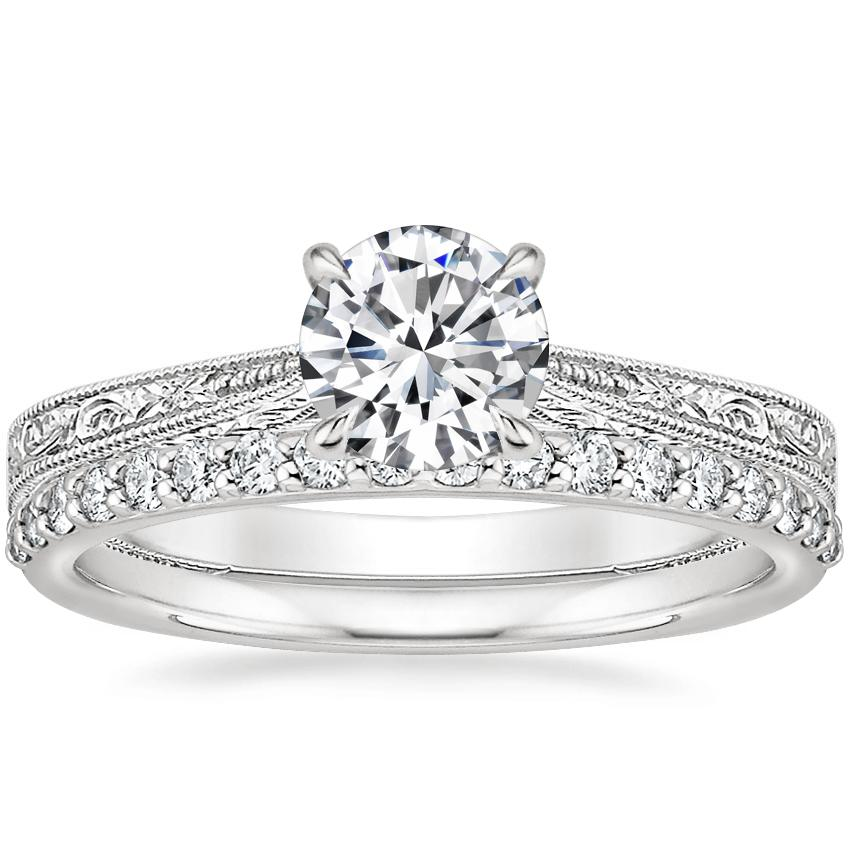 Platinum Elsie Ring with Petite Shared Prong Diamond Ring (1/4 ct. tw.)