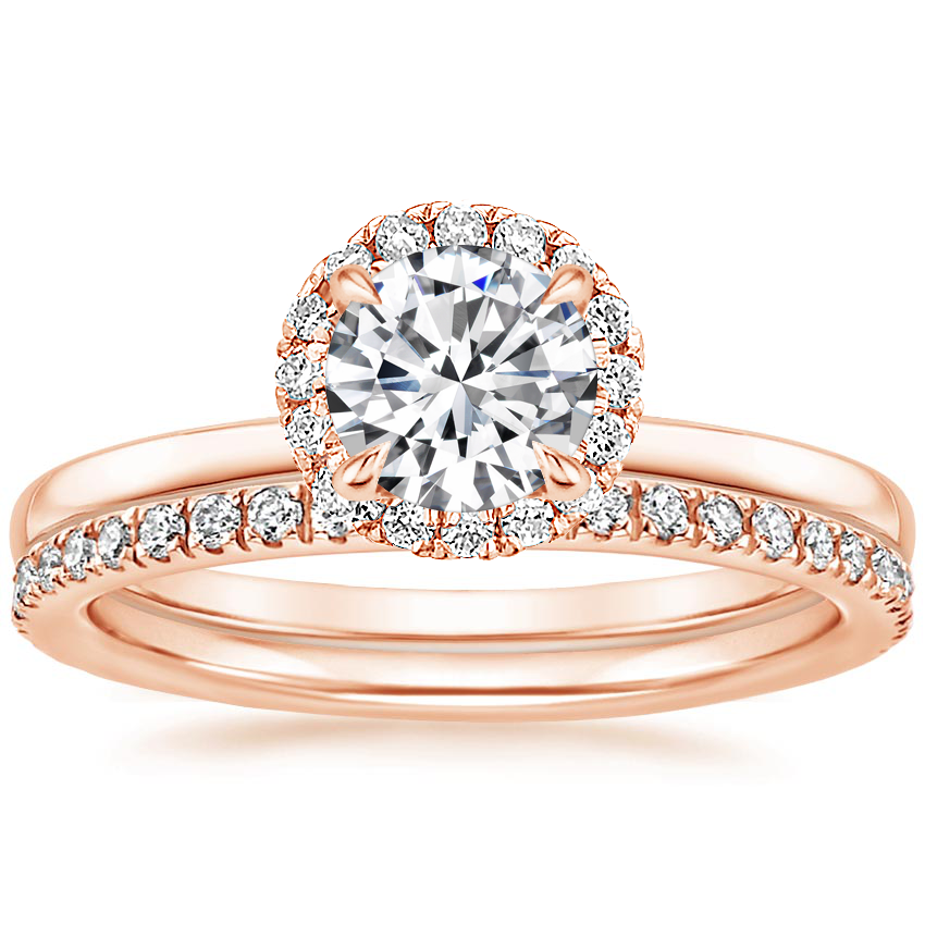 14K Rose Gold Vienna Diamond Bridal Set (1/2 ct. tw.)