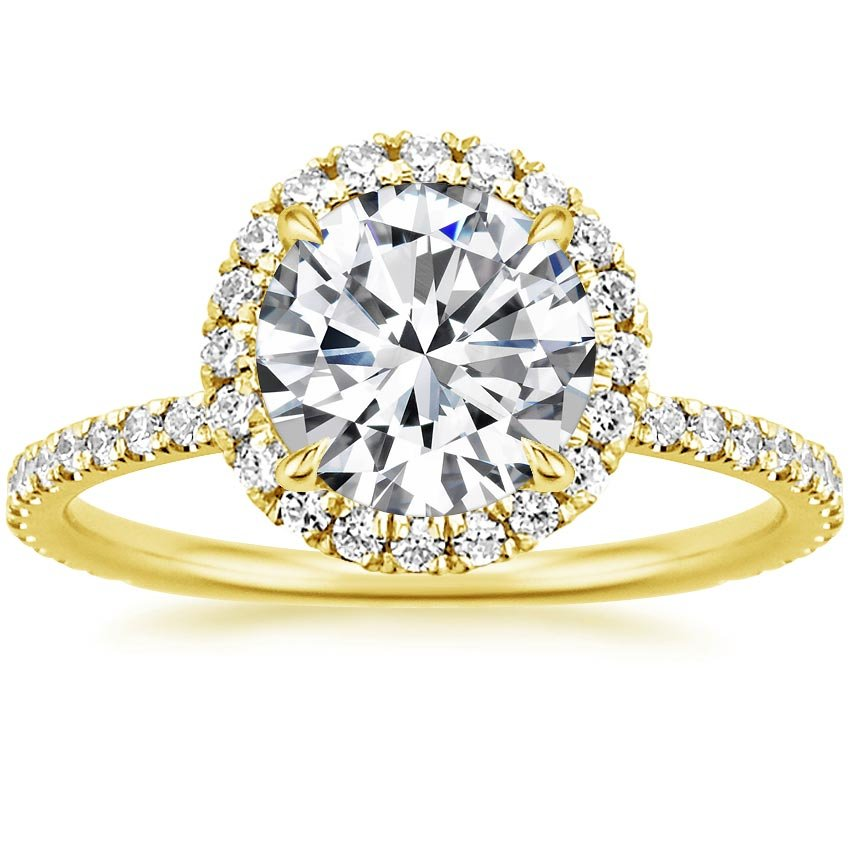 18K Yellow Gold Waverly Diamond Ring (1/2 ct. tw.), top view