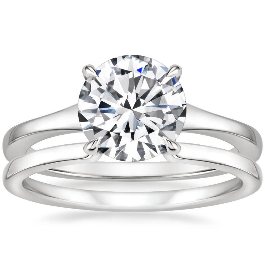 Platinum Muse Ring with Liv Wedding Ring