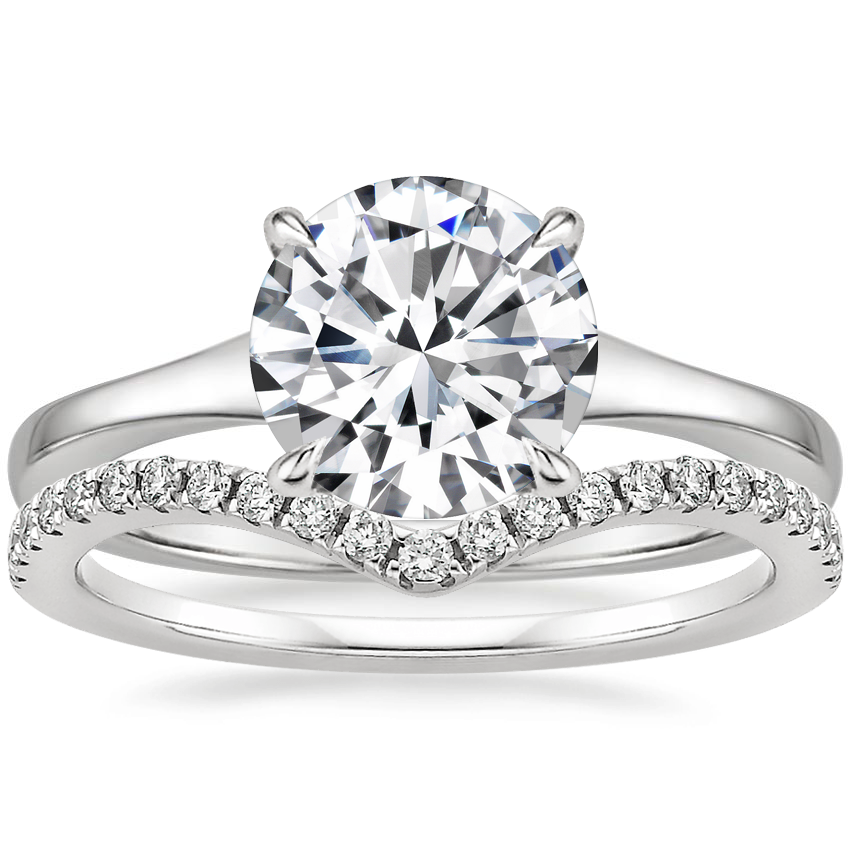 Platinum Muse Ring with Flair Diamond Ring (1/6 ct. tw.)