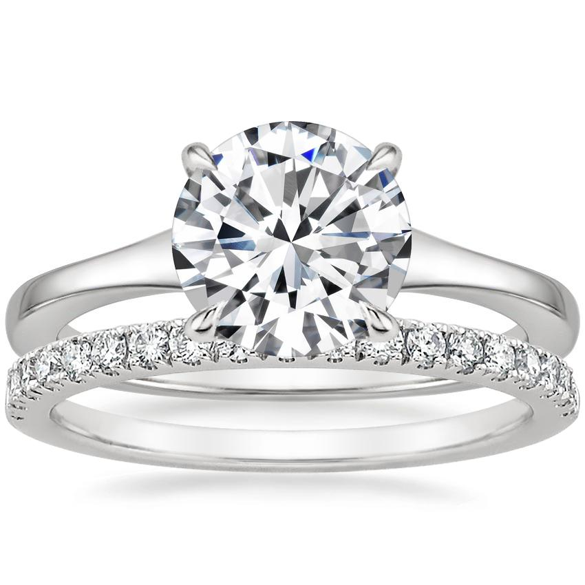 Platinum Muse Ring with Bliss Diamond Ring (1/5 ct. tw.)