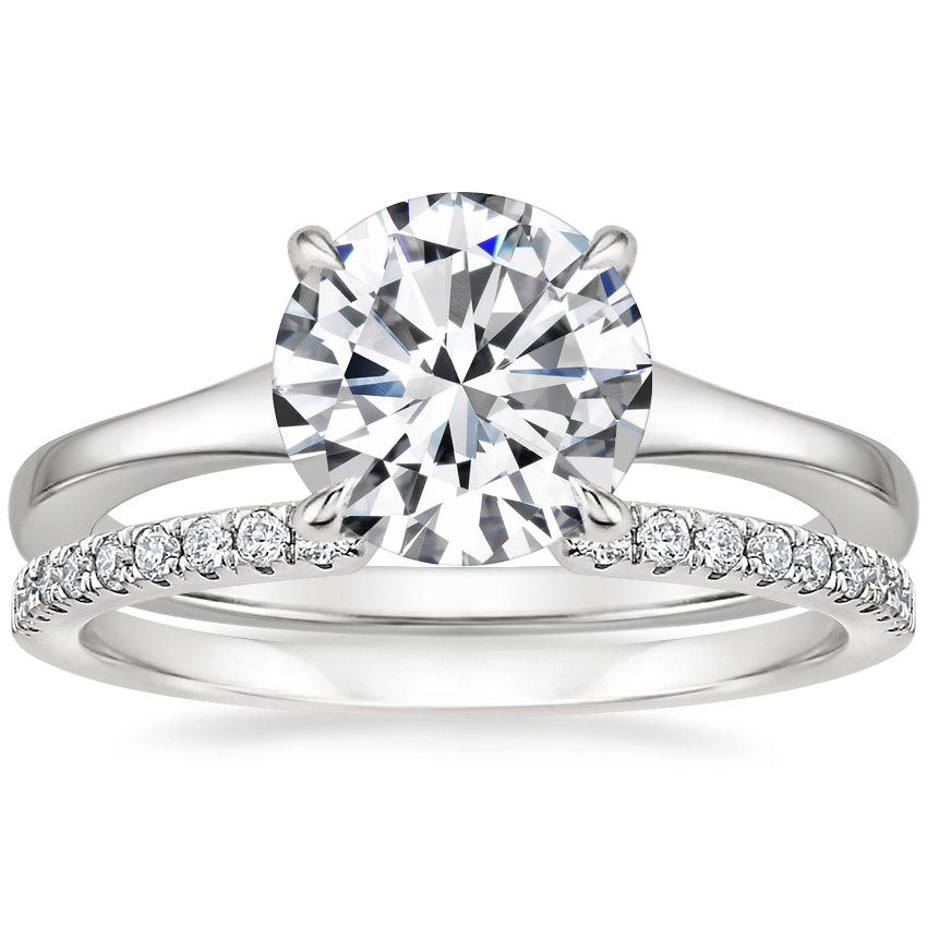 18K White Gold Muse Ring with Sia Diamond Ring