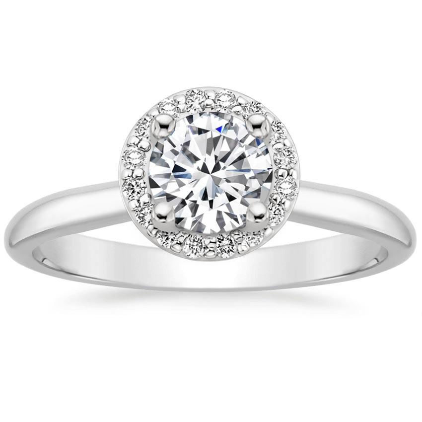 Platinum Halo Diamond Ring (1/8 ct. tw.), top view