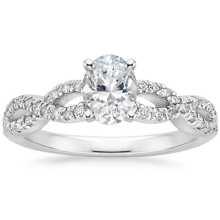 Oval Platinum Infinity Diamond Ring