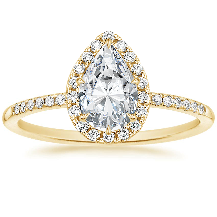 Pear 18K Yellow Gold Cambria Diamond Ring