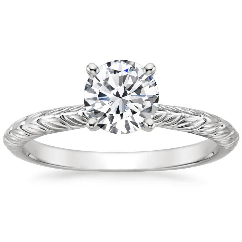 Platinum Garland Ring, top view