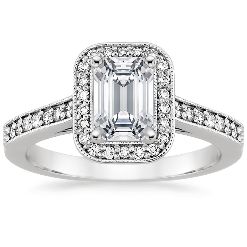 Platinum Felicity Diamond Ring (1/4 ct. tw.), top view