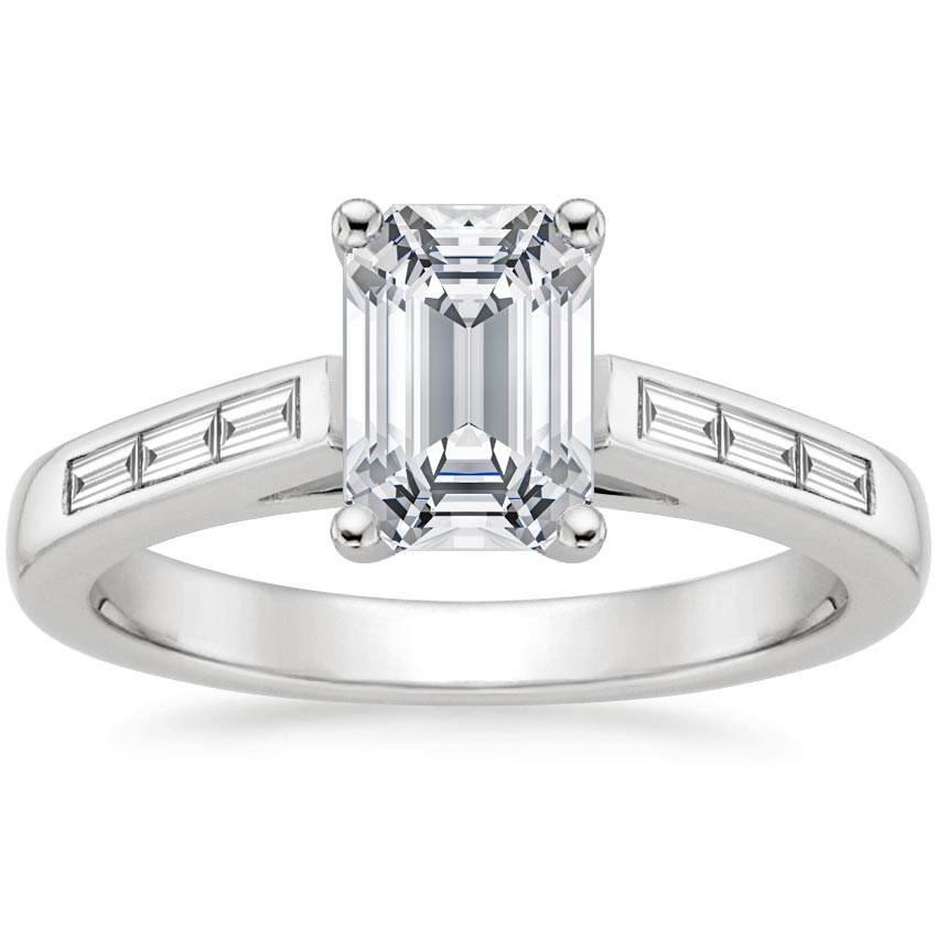 18K White Gold Meridian Diamond Ring, top view