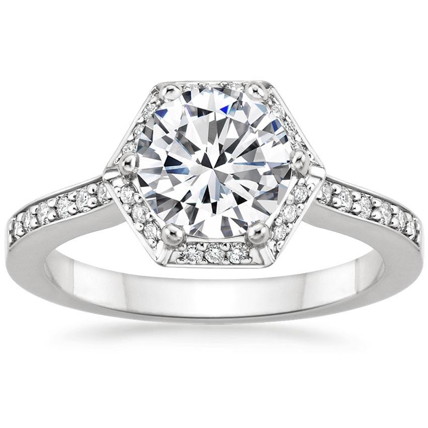 1fc09c9b3ca17 18K White Gold Dahlia Diamond Ring