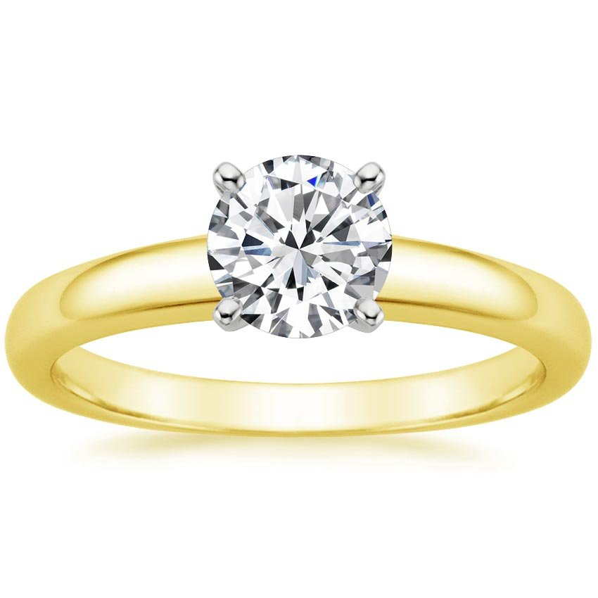 18K Yellow Gold 3mm Comfort Fit Ring, top view