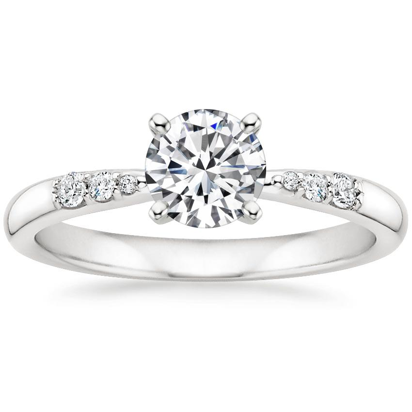Round Tapered Diamond Ring