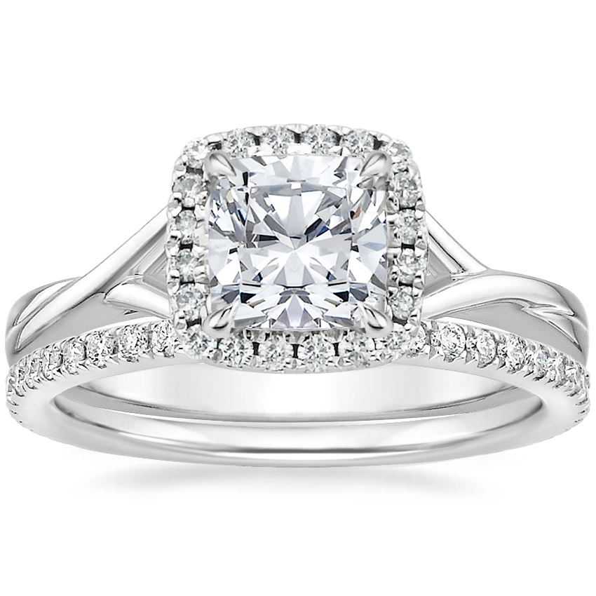 18K White Gold Serendipity Diamond Ring with Luxe Ballad Diamond Ring (1/4 ct. tw.)