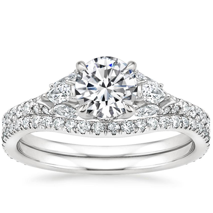 Platinum Ava Diamond Bridal Set (3/4 ct. tw.)
