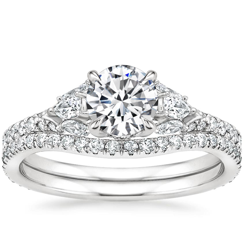 18K White Gold Ava Diamond Bridal Set (3/4 ct. tw.)