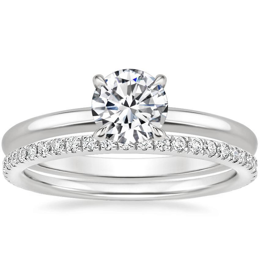 Platinum Elodie Ring with Ballad Diamond Ring (1/4 ct. tw.)