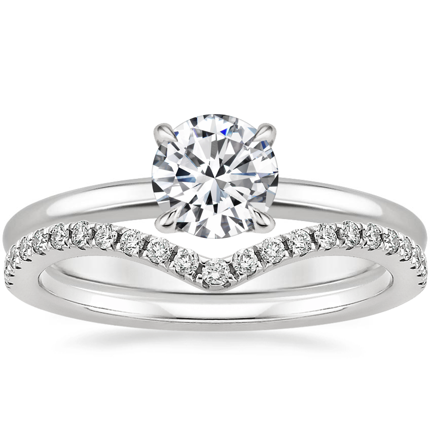 Platinum Elodie Ring with Flair Diamond Ring (1/6 ct. tw.)