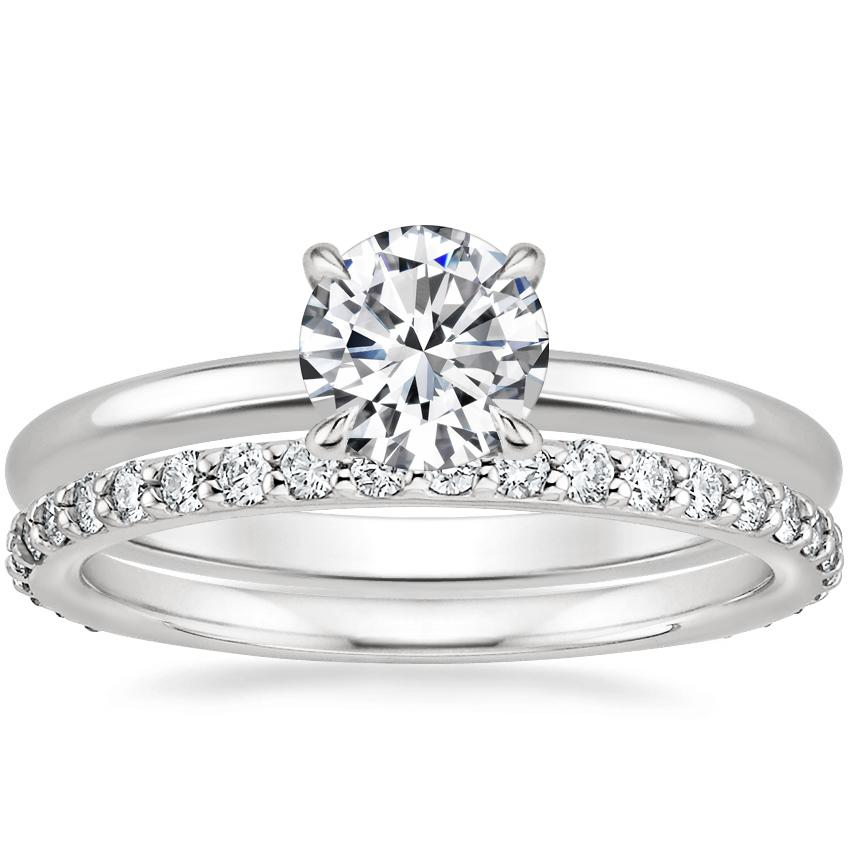 Platinum Elodie Ring with Petite Shared Prong Eternity Diamond Ring (1/2 ct. tw.)