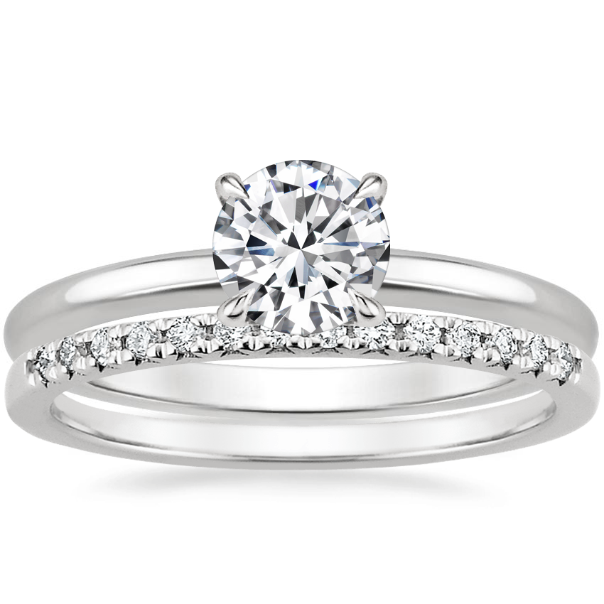 Platinum Elodie Ring with Sonora Diamond Ring (1/8 ct. tw.)
