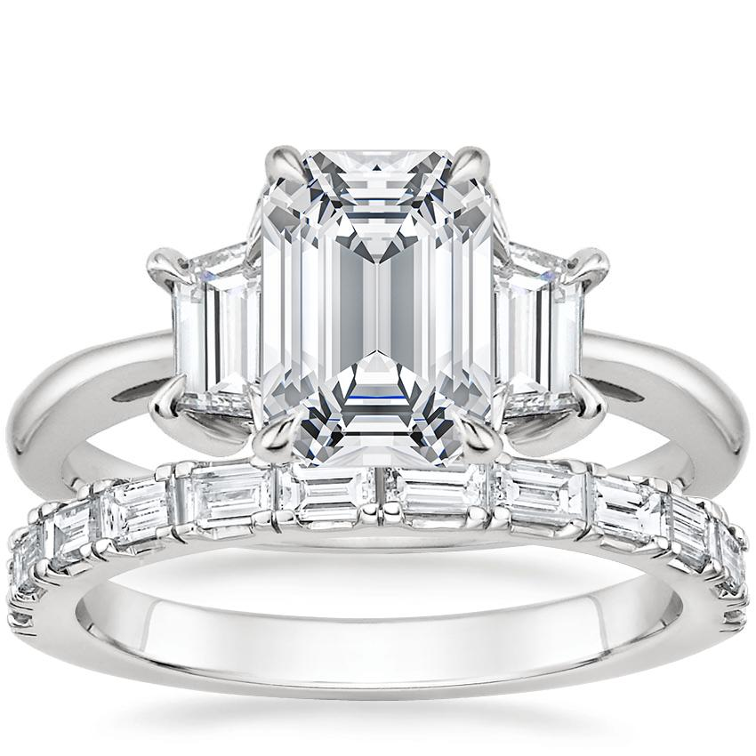 Platinum Embrace Diamond Ring with Gemma Diamond Ring (1/2 ct. tw.)