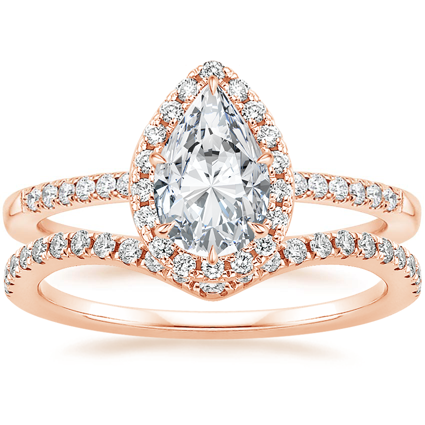14K Rose Gold Cambria Diamond Ring (1/4 ct. tw.) with Flair Diamond Ring