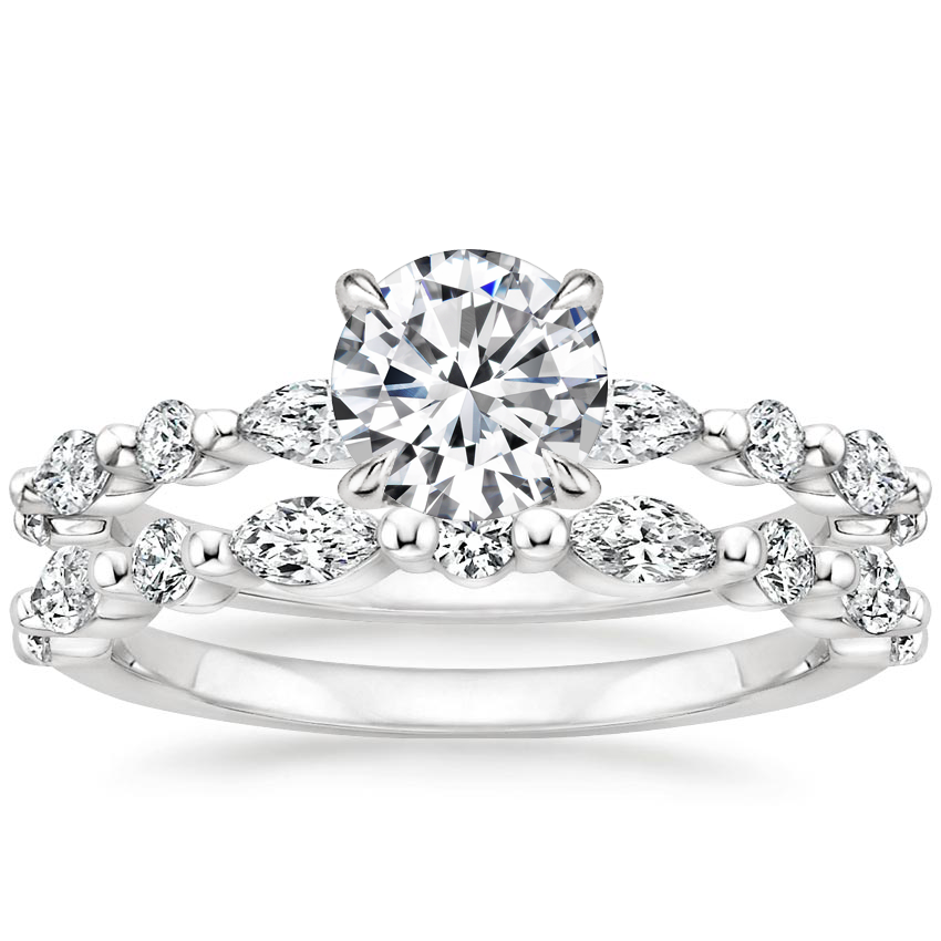 18K White Gold Versailles Diamond Bridal Set (3/4 ct. tw.)