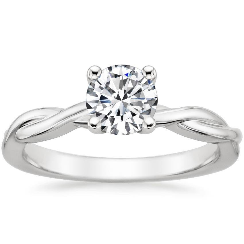 Round Solitaire Nature Ring