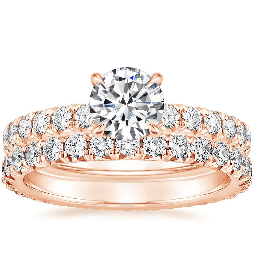 14K Rose Gold Olympia Diamond Ring with Sienna Eternity Diamond Ring (7/8 ct. tw.)