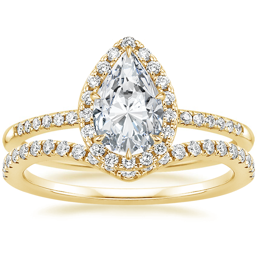 18K Yellow Gold Cambria Diamond Ring (1/4 ct. tw.) with Flair Diamond Ring