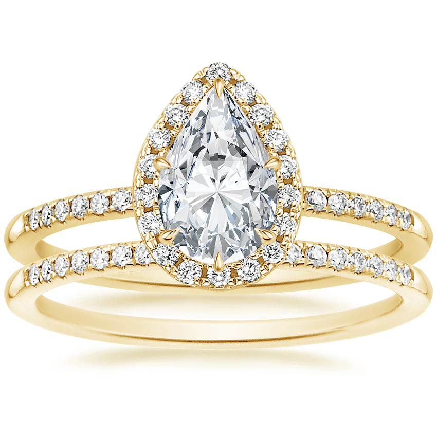 18K Yellow Gold Cambria Diamond Ring with Whisper Diamond Ring (1/10 ct. tw.)