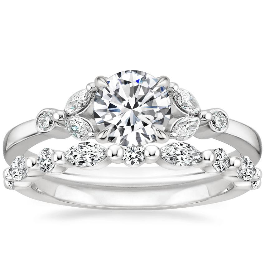 18K White Gold Verbena Diamond Ring with Versailles Diamond Ring (2/5 ct. tw.)