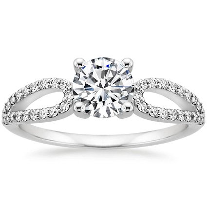 18K White Gold Lumiere Diamond Ring, top view