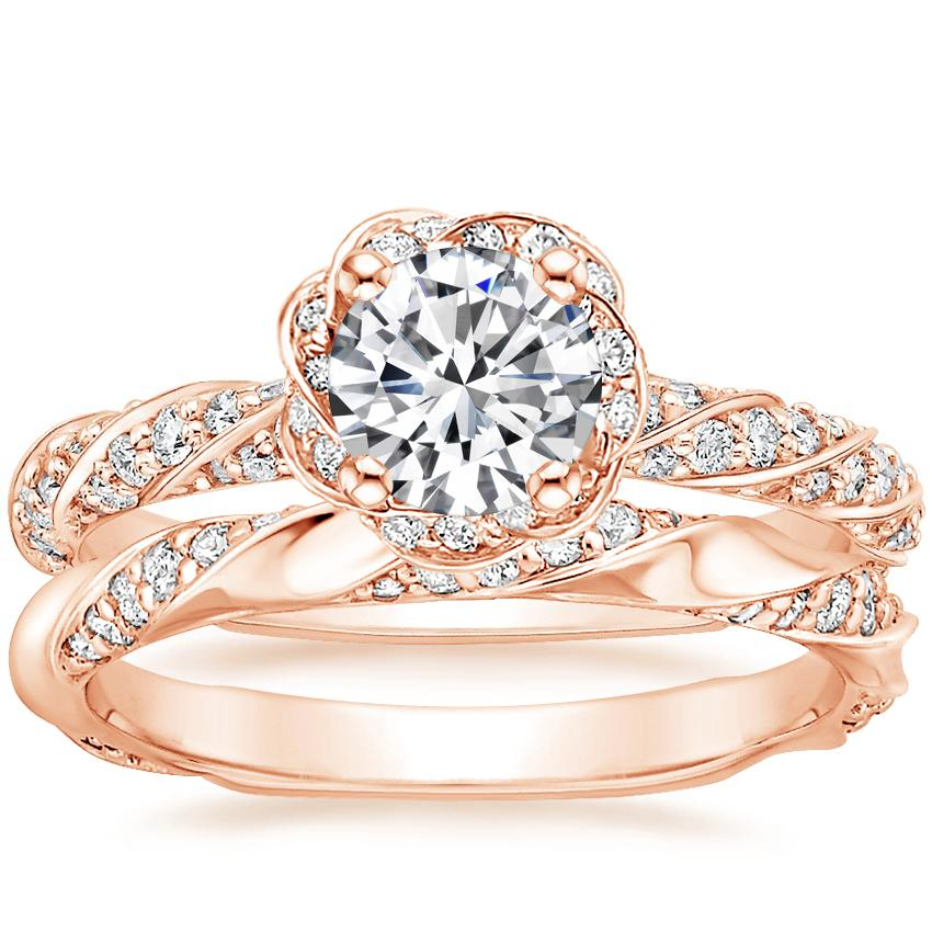 14K Rose Gold Cordoba Diamond Ring with Cosima Diamond Ring