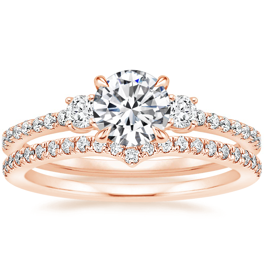 14K Rose Gold Lyra Diamond Ring (1/4 ct. tw.) with Verita Diamond Ring