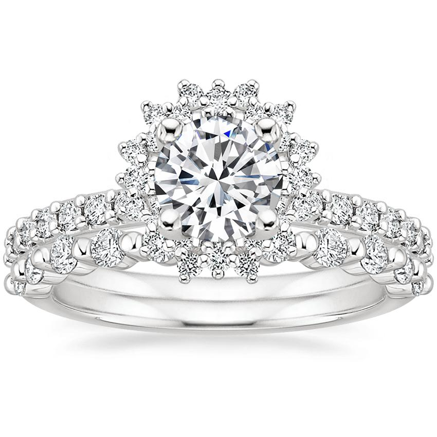 18K White Gold Twilight Diamond Ring with Marseille Diamond Ring (1/3 ct. tw.)