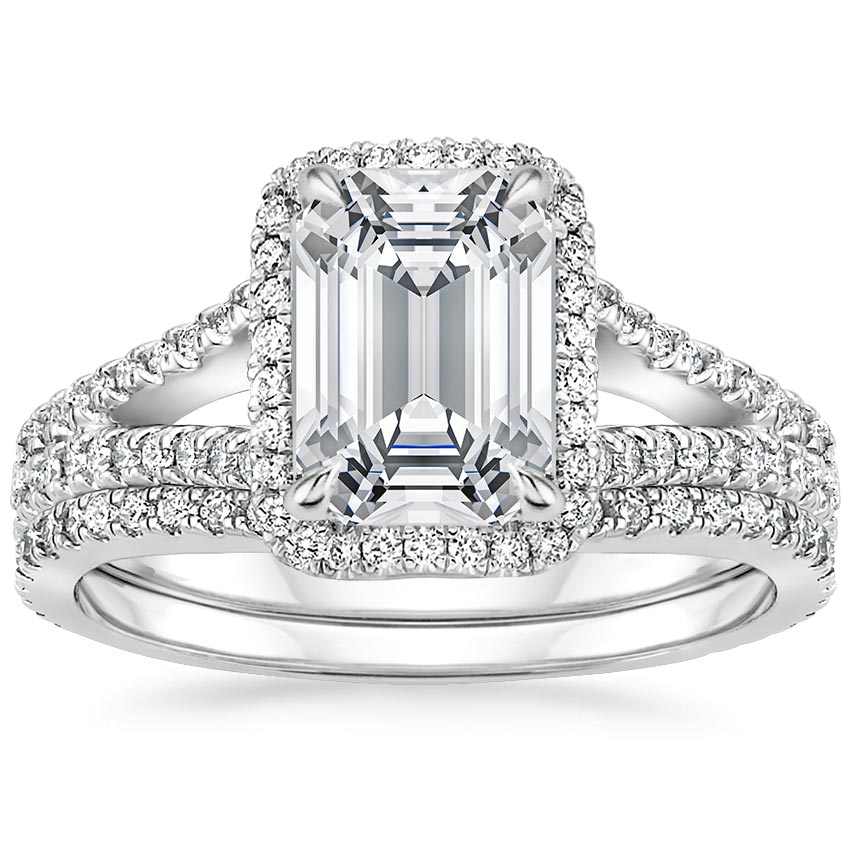 18K White Gold Fortuna Diamond Bridal Set (2/3 ct. tw.)