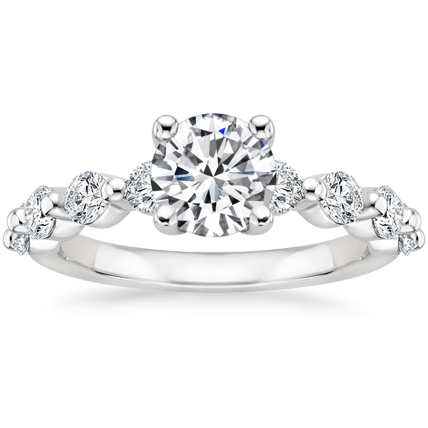 Round Luxe Floating Diamond Ring