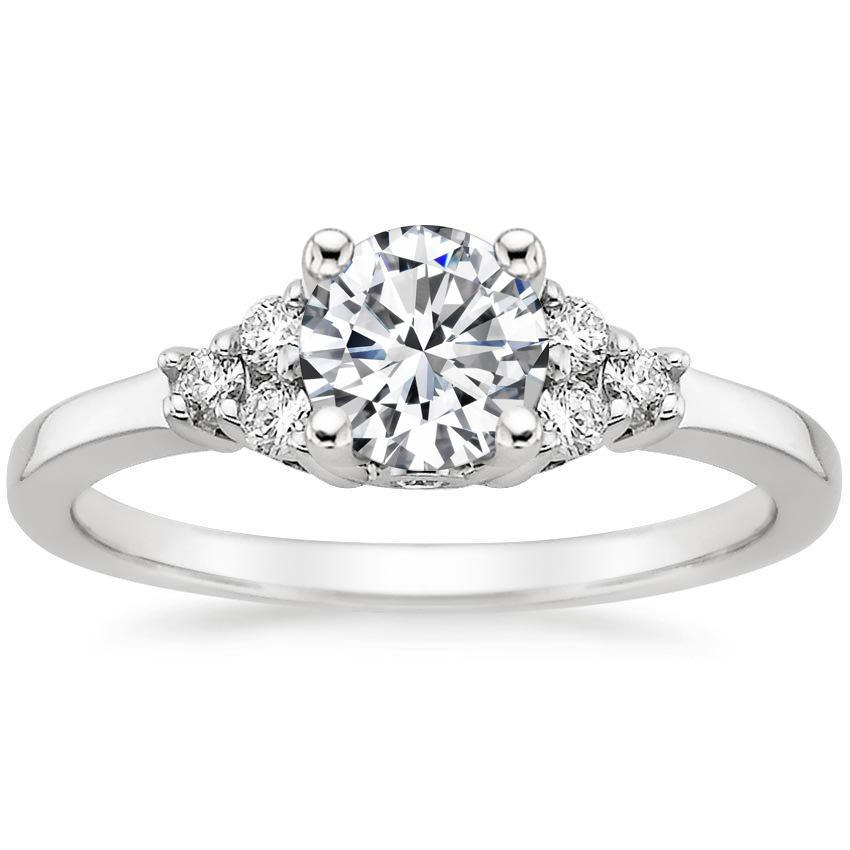 Platinum Trio Diamond Ring, top view