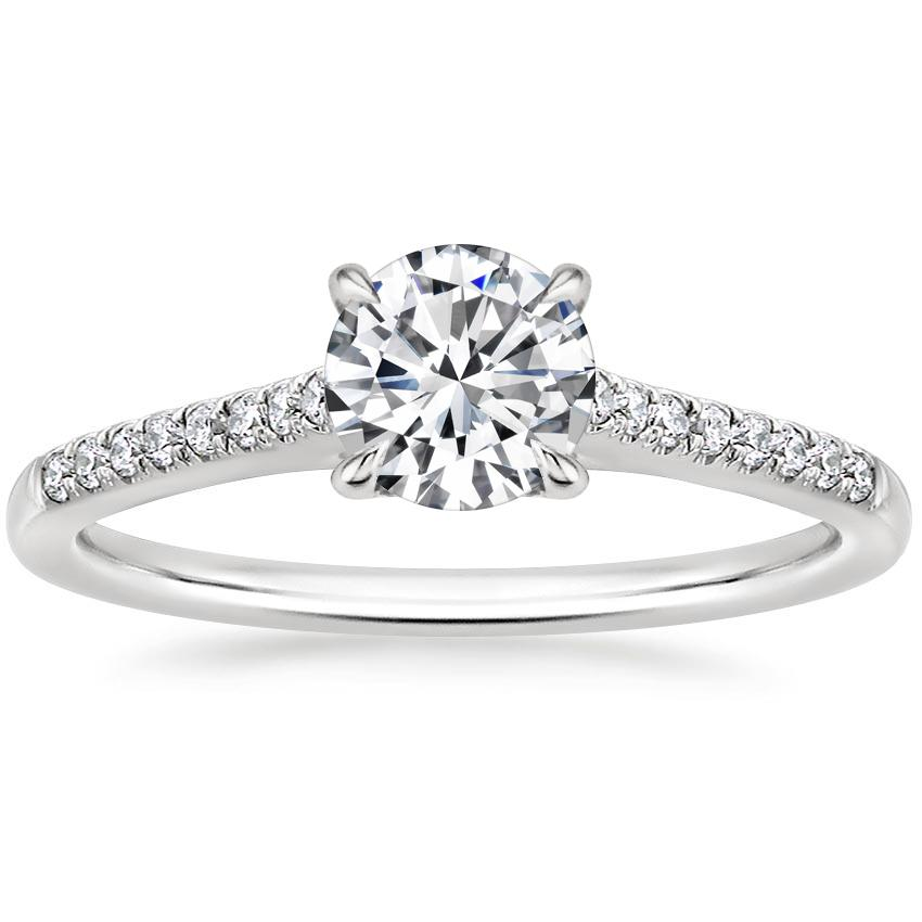 Round Platinum Lissome Diamond Ring (1/10 ct. tw.)