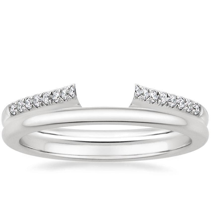18K White Gold Lissome Diamond Ring with Petite Comfort Fit Wedding