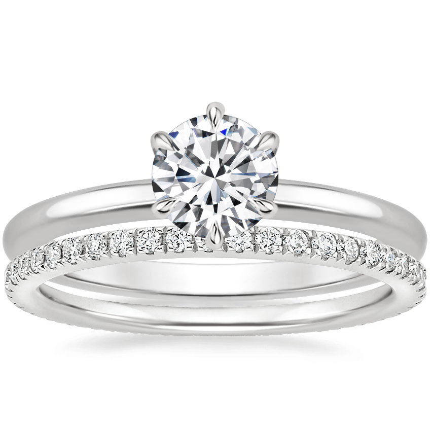 Platinum Esme Ring with Ballad Eternity Diamond Ring (1/3 ct. tw.)
