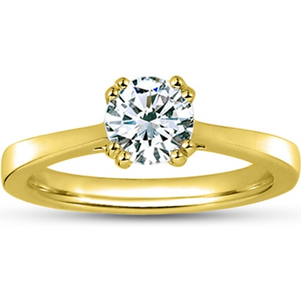 18K Yellow Gold Cherish Ring, top view